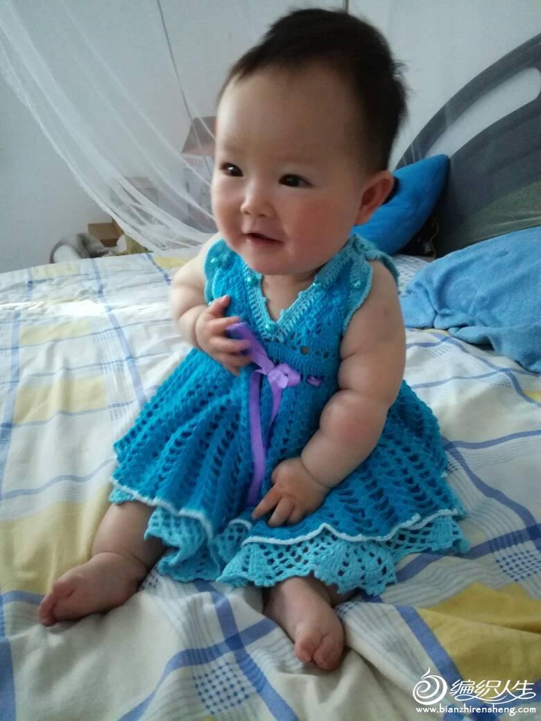 宝宝钩针背心裙