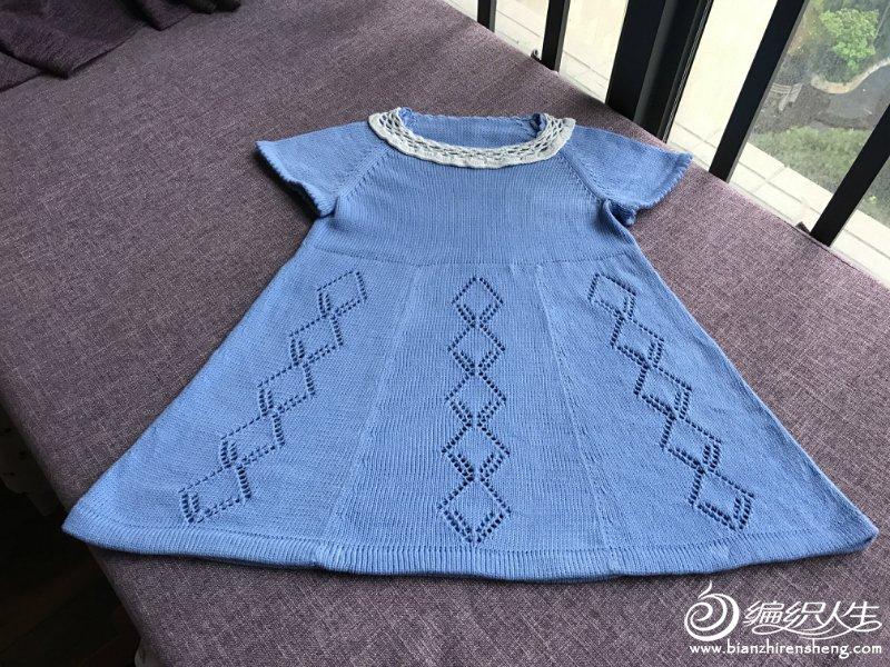 儿童棒针短袖连衣裙