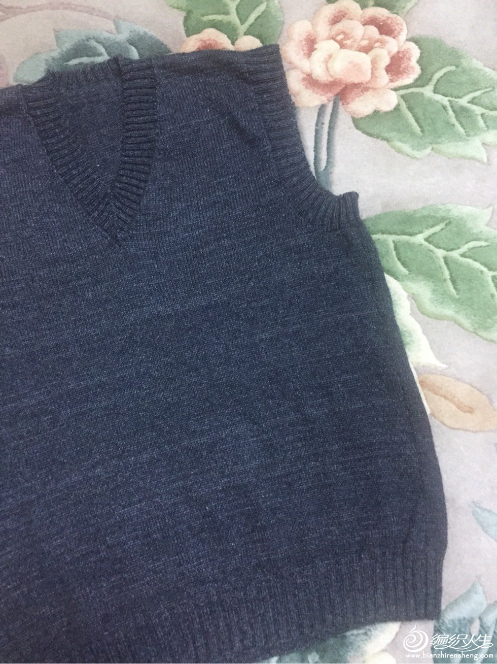 男士棒针羊绒背心