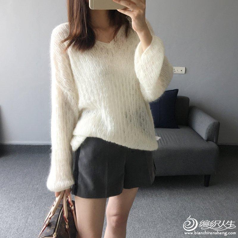 时尚马海毛衣