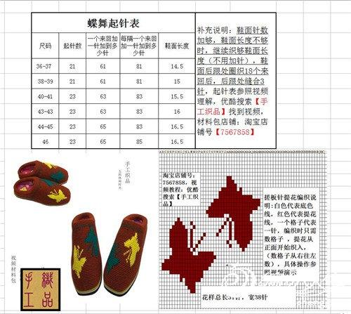 过程棉鞋托毛线拖鞋鞋图解详细毛线图详细编织快视频教学三图片
