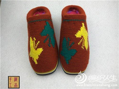 棉鞋毛线托毛线拖鞋鞋图解详细过程图详细编织彭贺霆视频图片