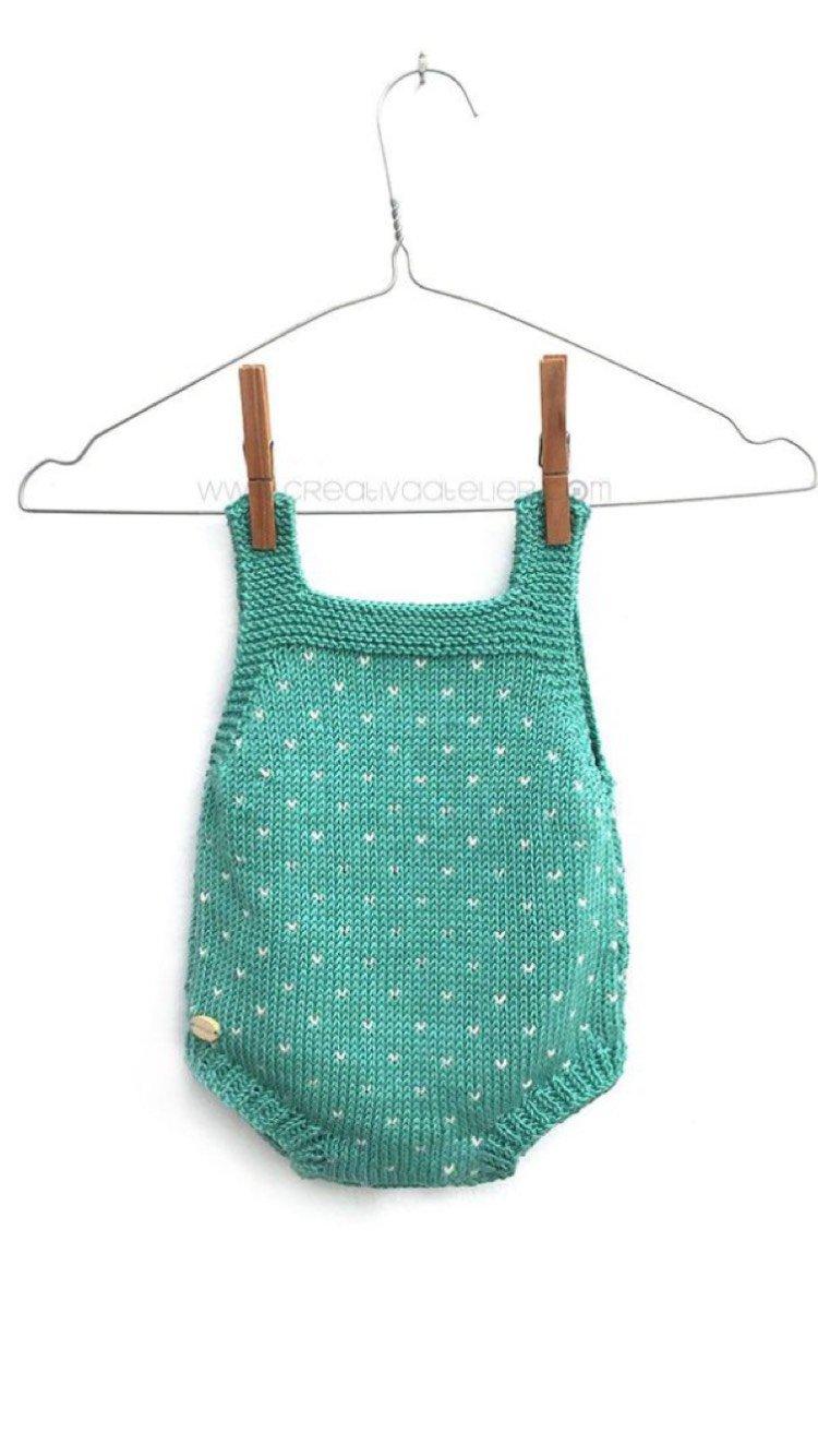 宝宝棒针连体裤
