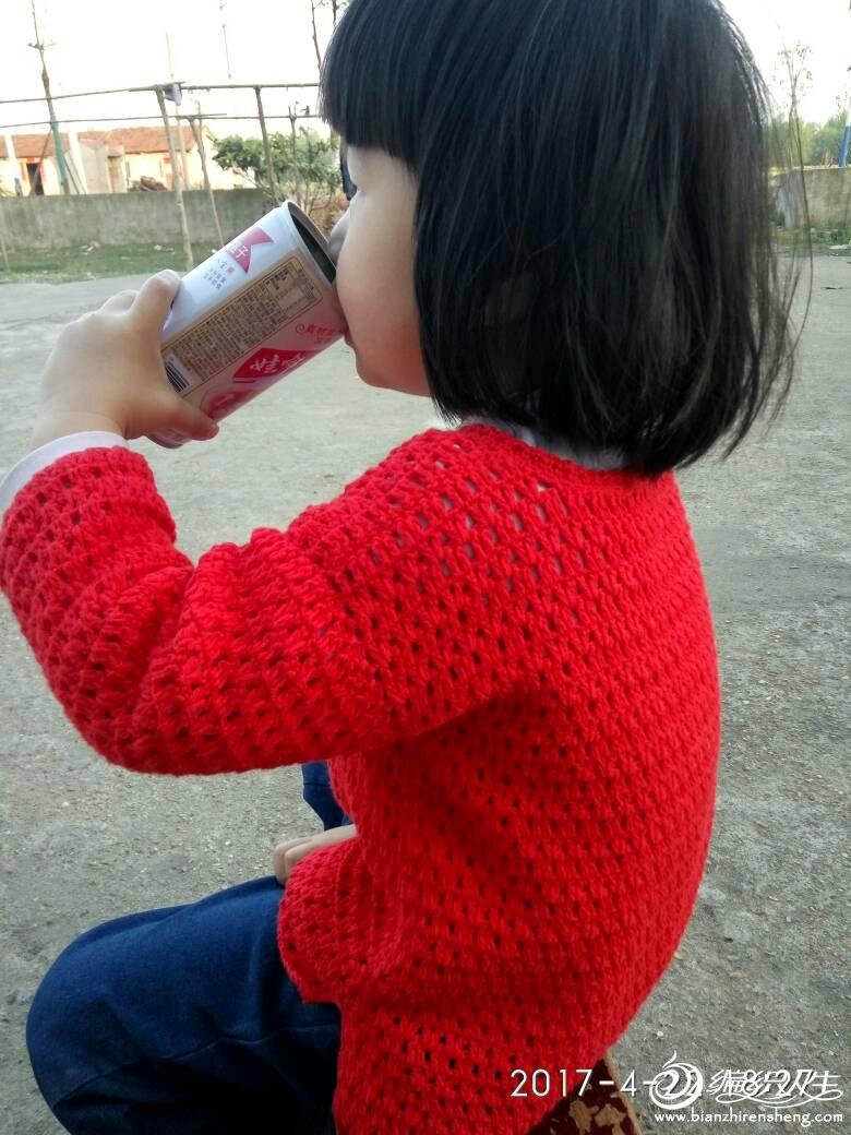 儿童钩针长袖