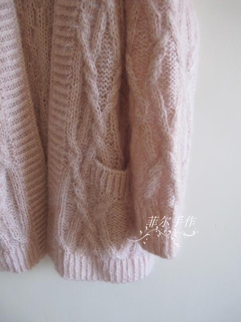 【菲尔手作】 未央 --- 棒针绞花大外套 - 菲尔 - 菲尔的编织博客