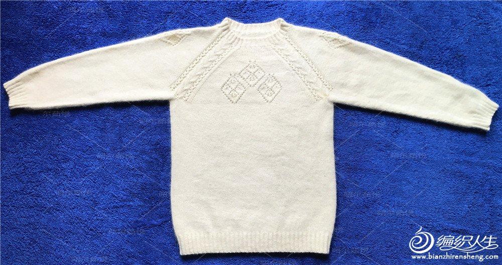 从上往下织儿童圆领毛衣
