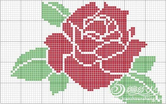 玫瑰绣花图案