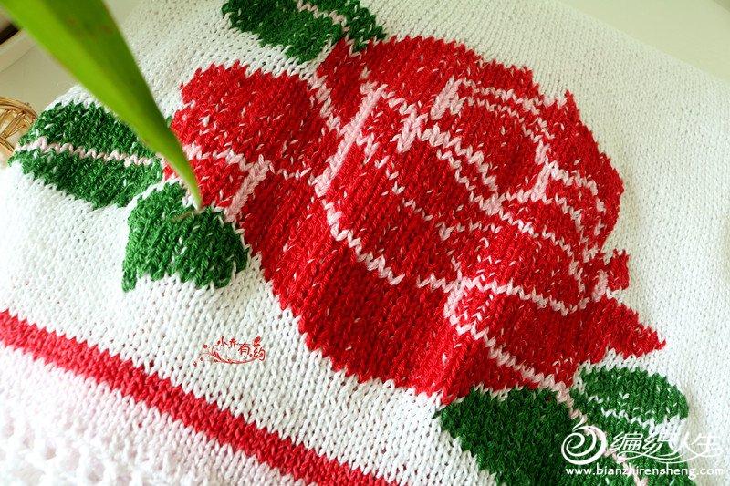 玫瑰图案毛衣绣
