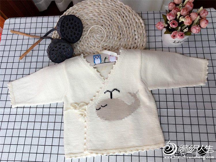 棒针宝宝叠襟毛衣