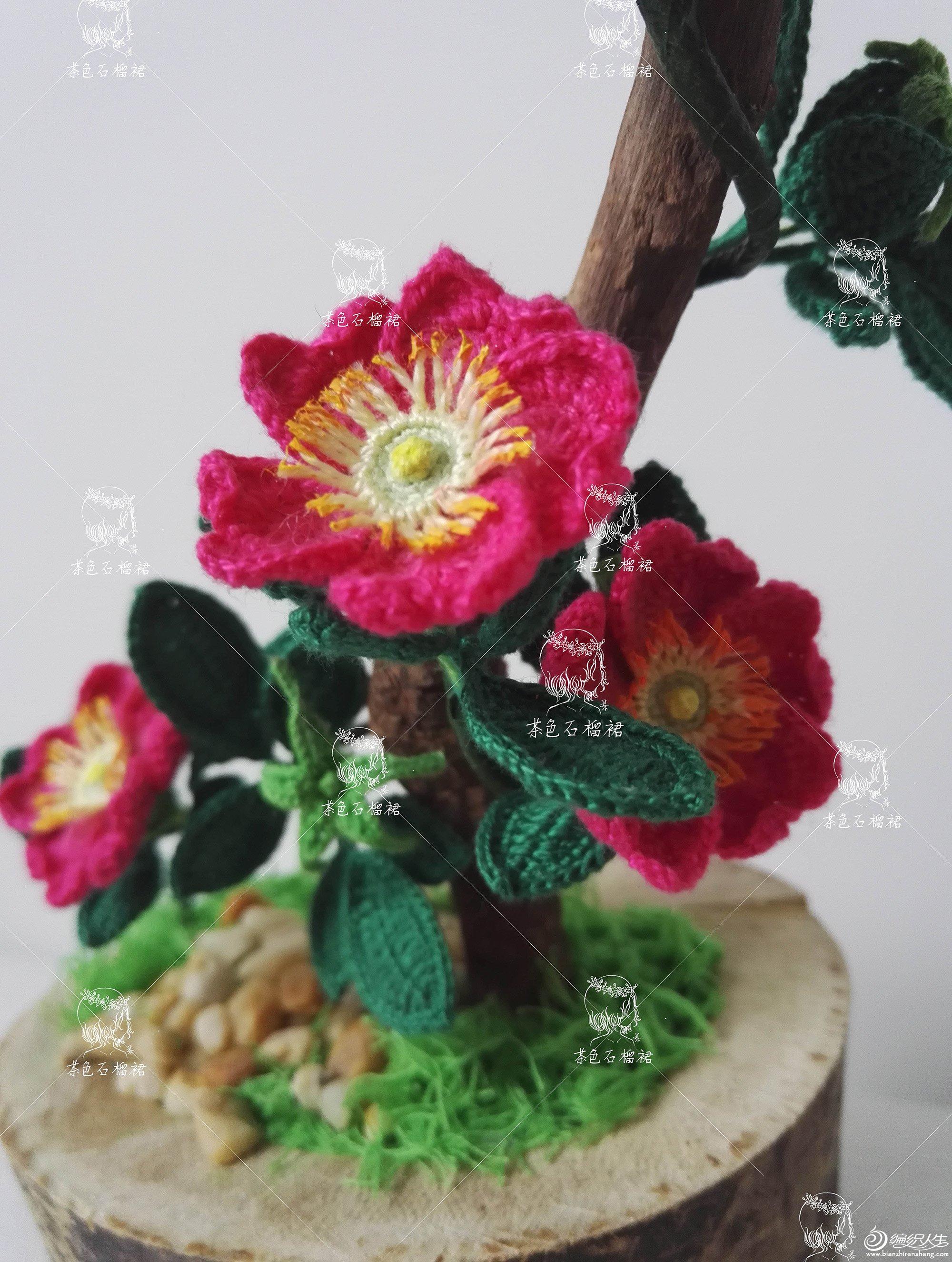 毛线编织仿真花