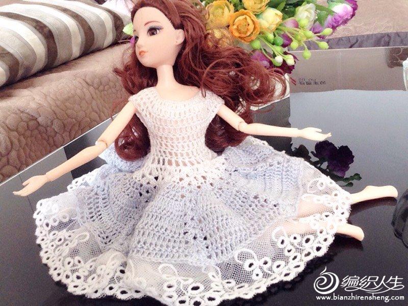 芭比钩针公主裙