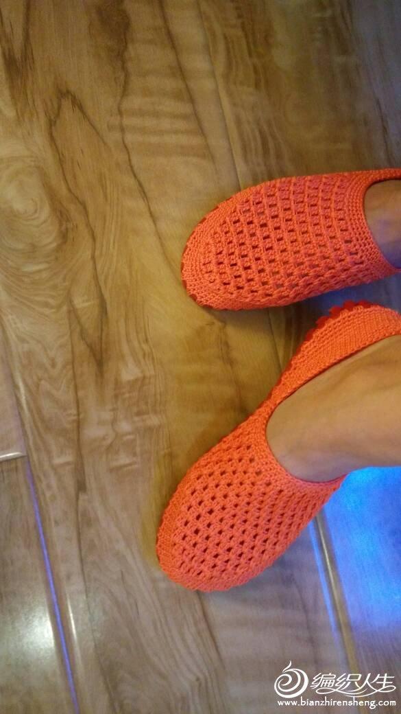 空心线钩鞋