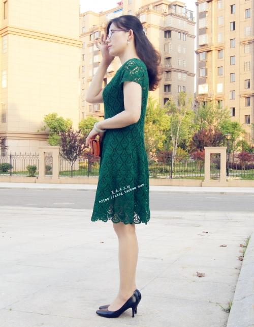 """[裙装] 【夏天手工】——""""羽裳""""之大摆蕾丝裙 - yn595959 - yn595959 彦妮"""