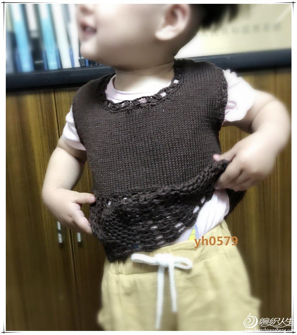 宝宝钩织结合背心