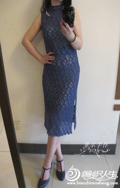 复古棒针连衣裙