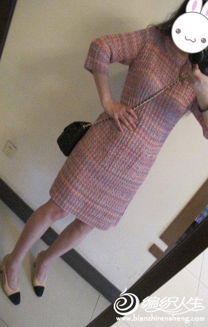 棒针女士连衣裙
