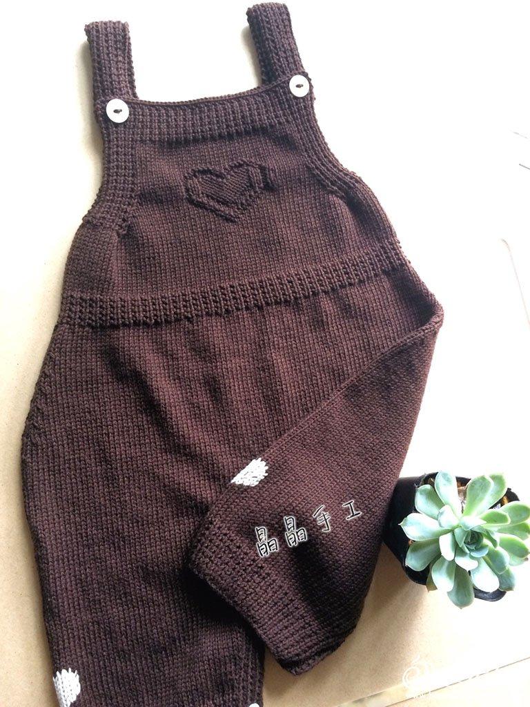 婴幼儿棒针背带裤