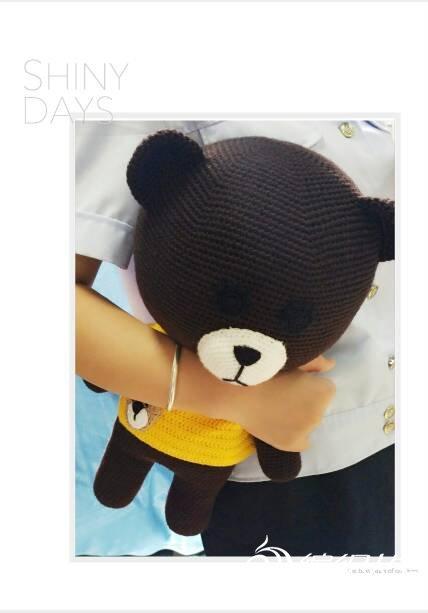 毛线编织玩具熊