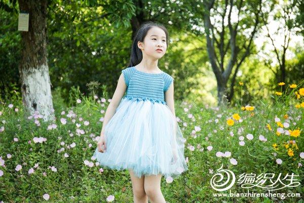 女童钩针纱裙