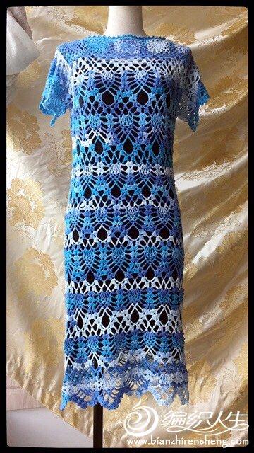 钩针菠萝短袖裙衣