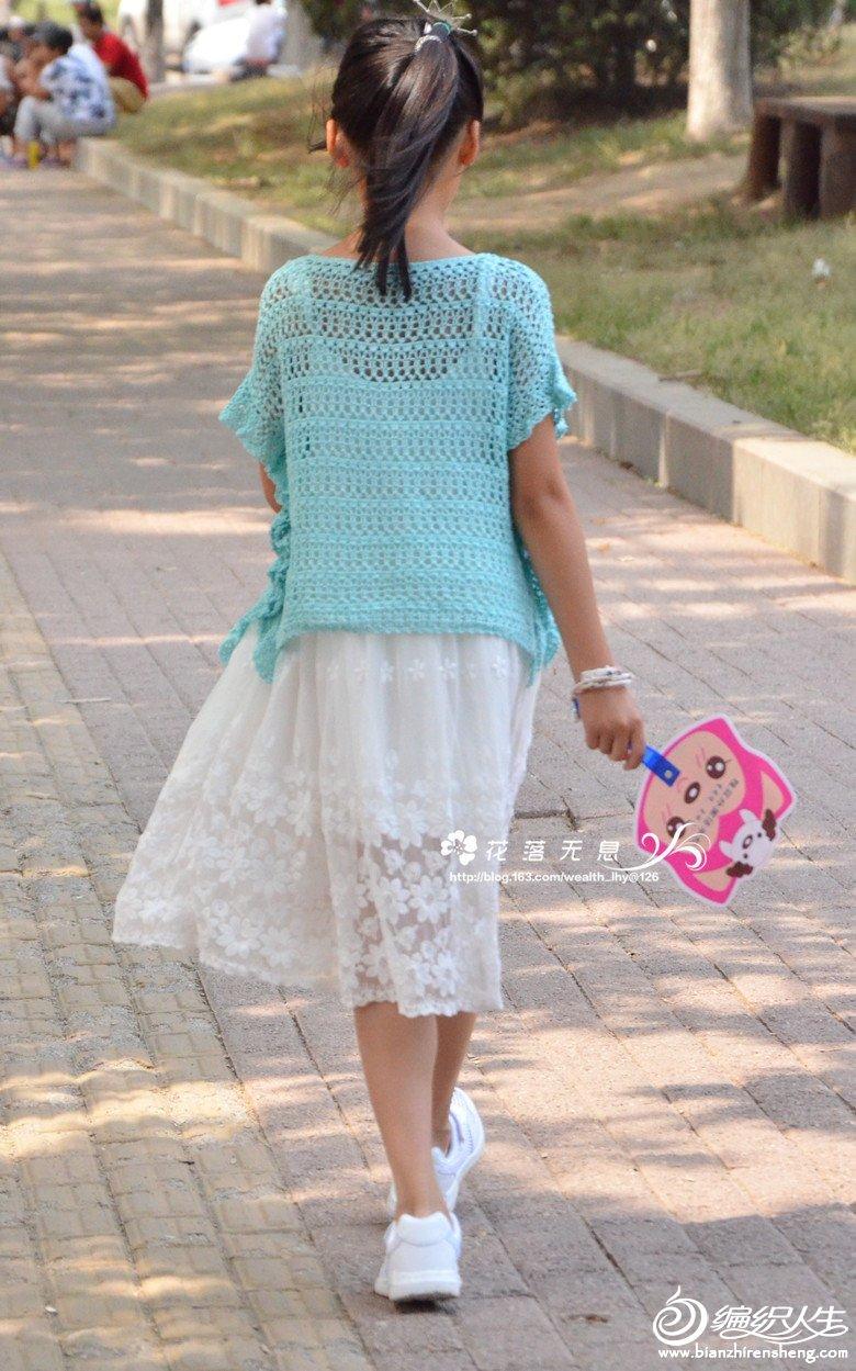 女童钩针罩衫