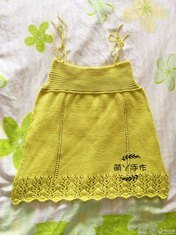 织法简单的云朵棒针儿童吊带裙-编织教程-编织人生
