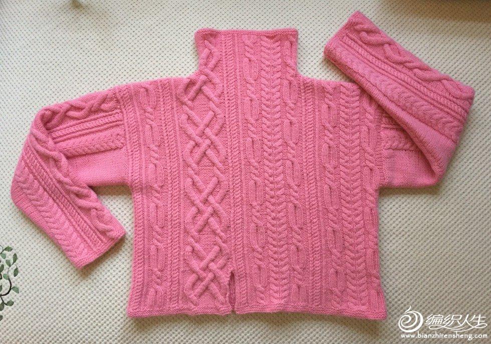 棒针麻花毛衣