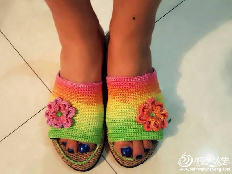 夏季钩针拖鞋