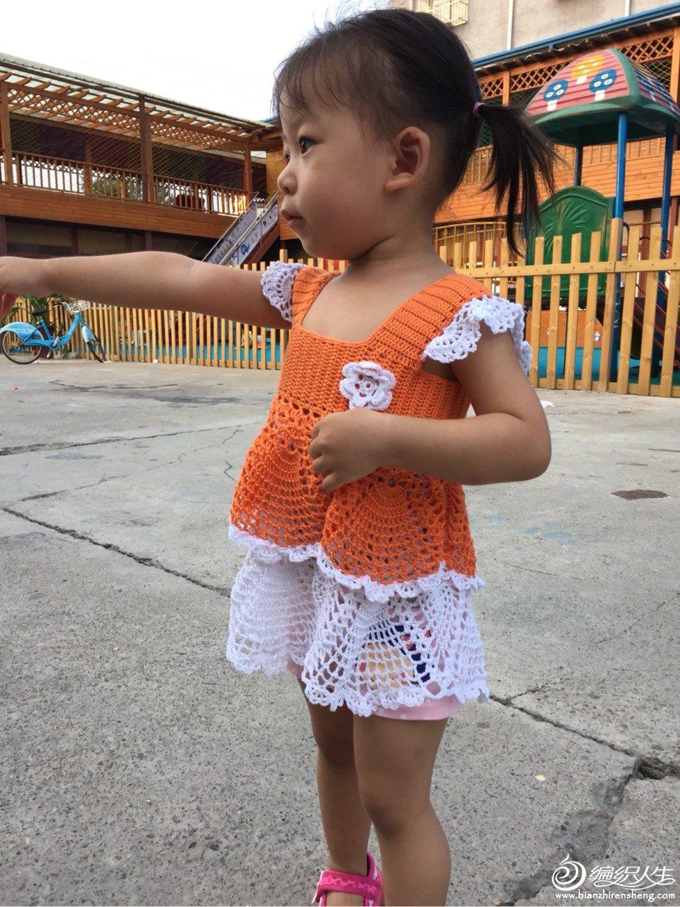 宝宝钩针蛋糕裙