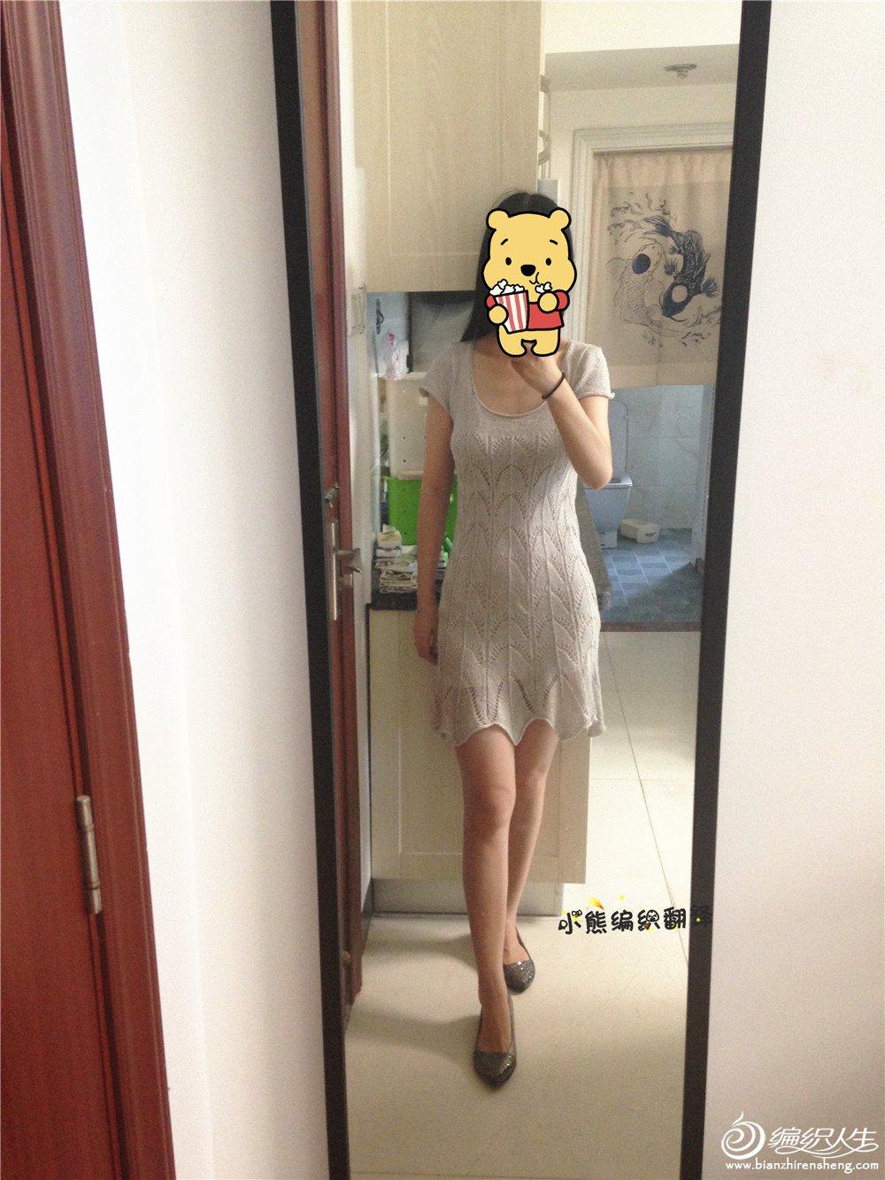 棒针连衣裙