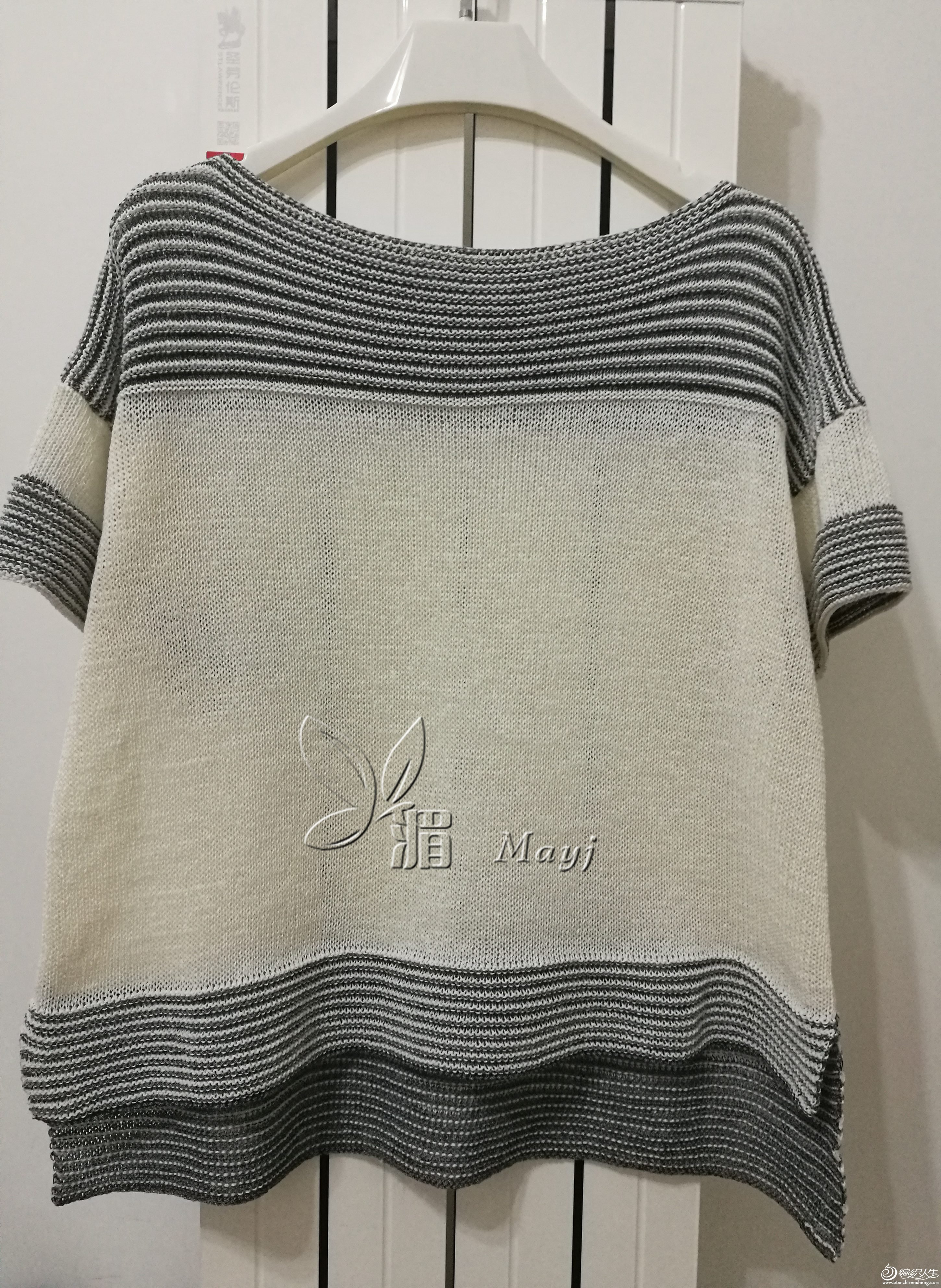 家用编织机机织短袖毛衣