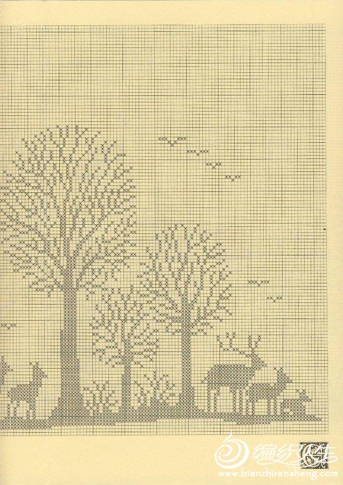 钩针森林图案