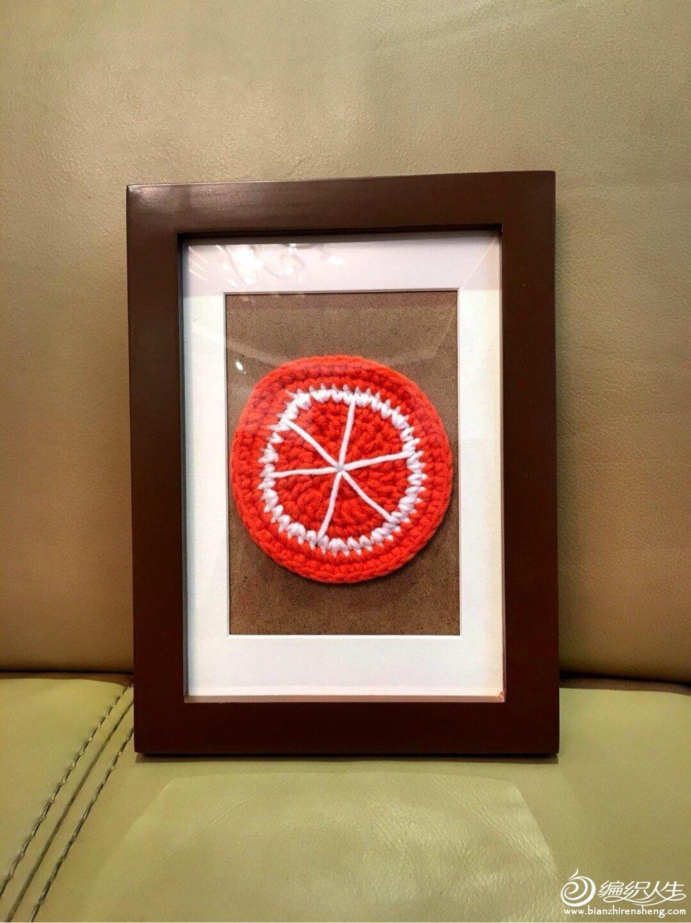 钩针水果装饰