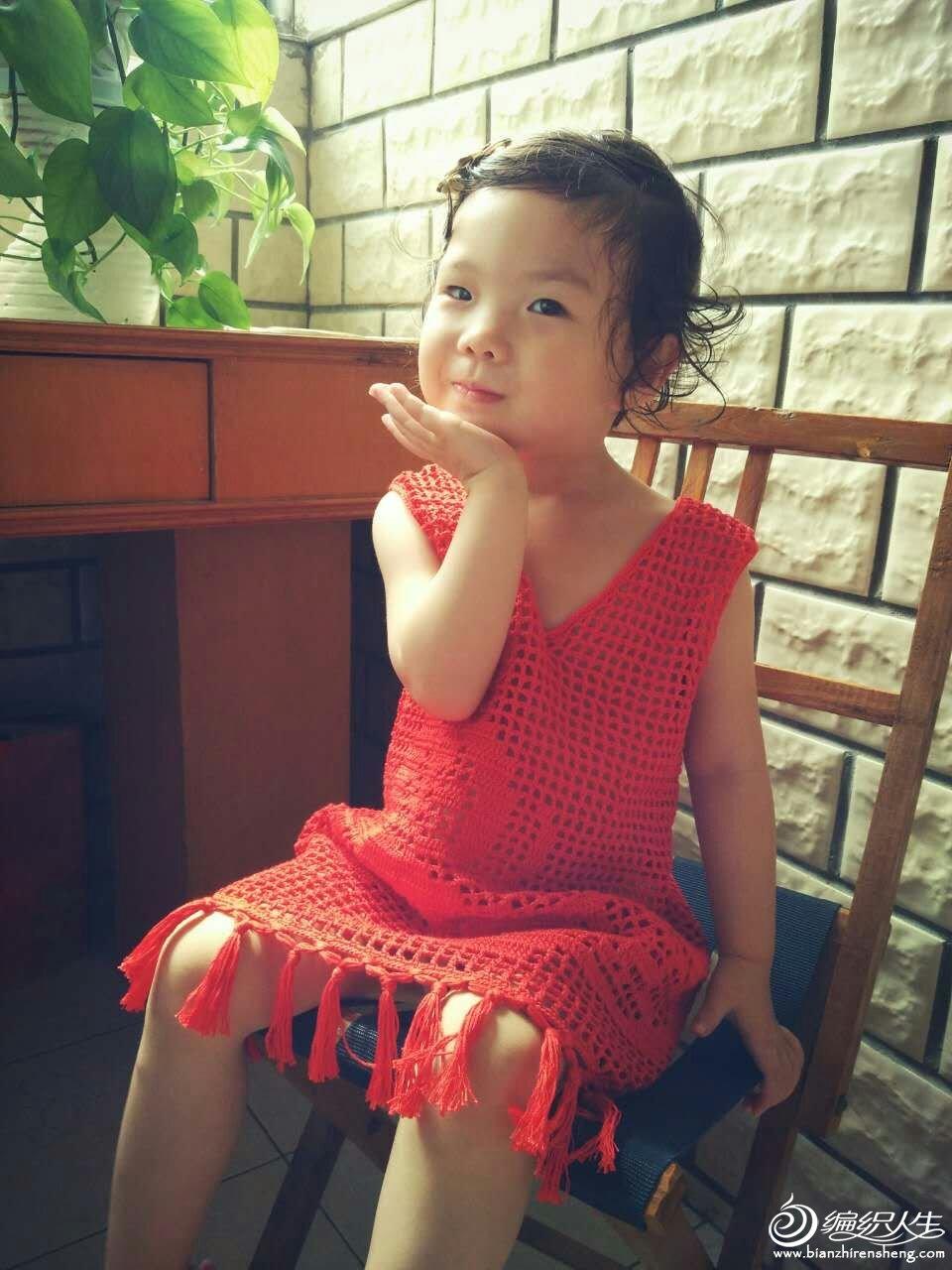 儿童钩针背心裙