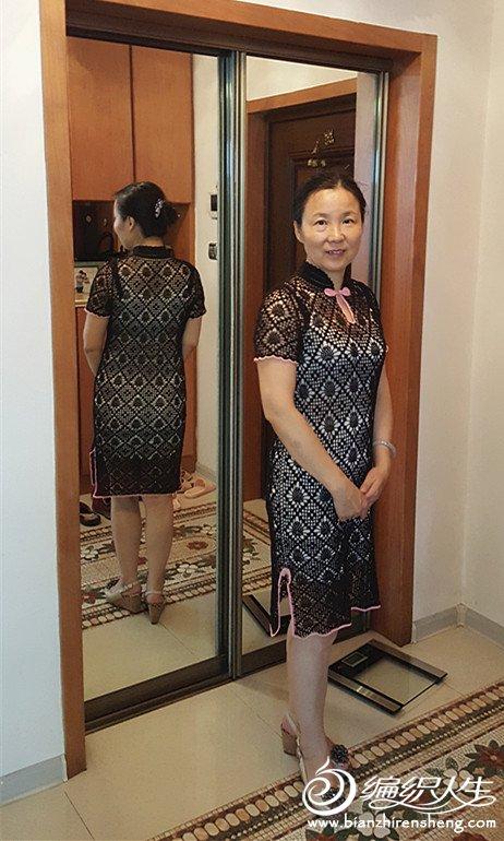 钩针蕾丝旗袍