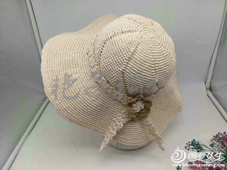 扇形针怎么钩_怎样钩一顶颜值过关的夏季草帽 零基础学钩帽子-编织教程-编织人生