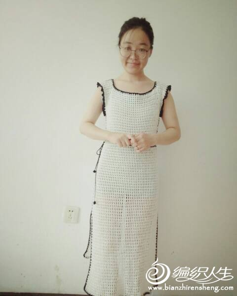 女士钩针旗袍