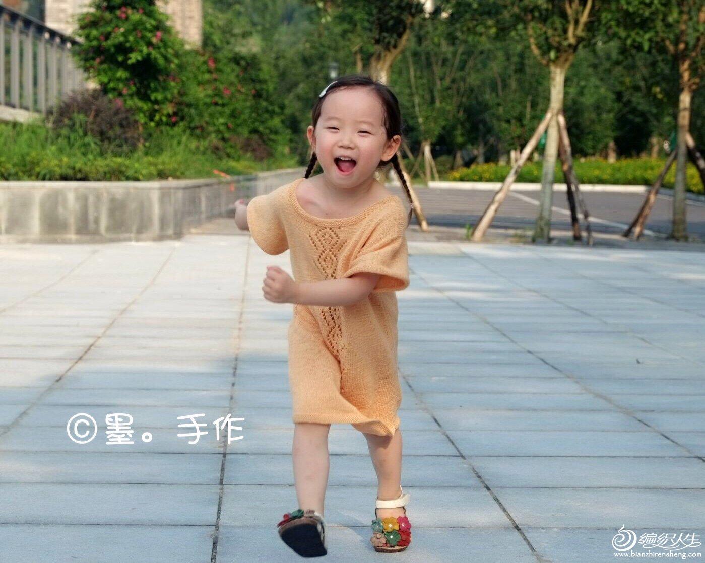 宝宝棒针短袖连衣裙