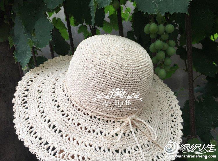 女士钩针太阳帽