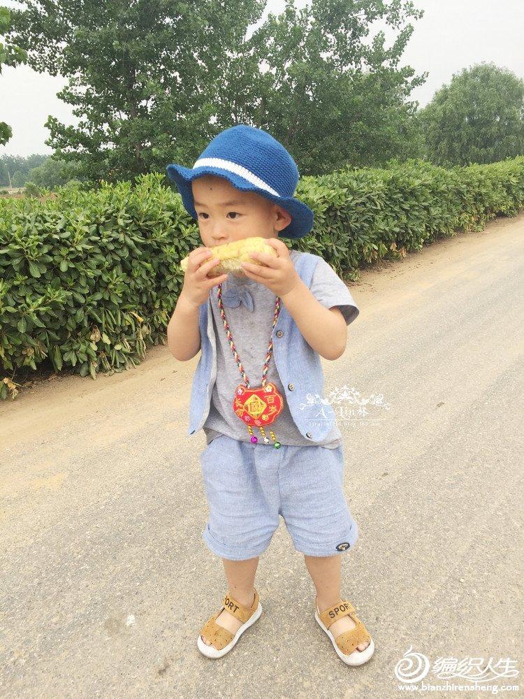 儿童钩针太阳帽