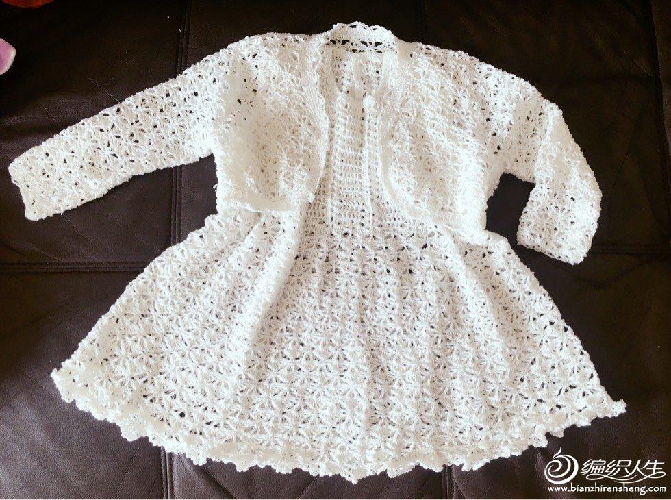 女童钩针蕾丝裙