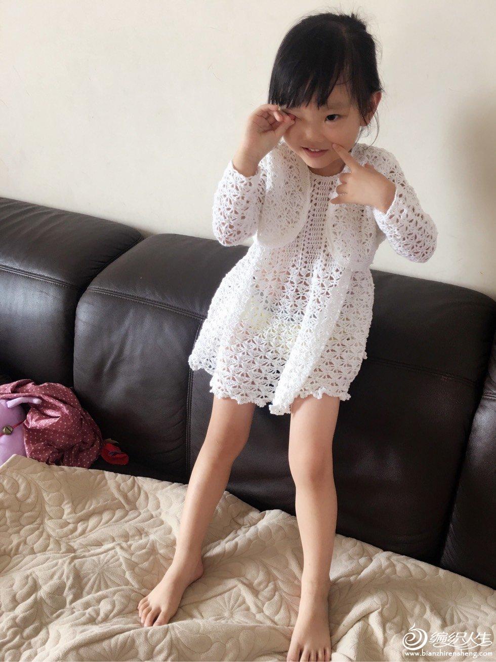 宝宝钩针套裙