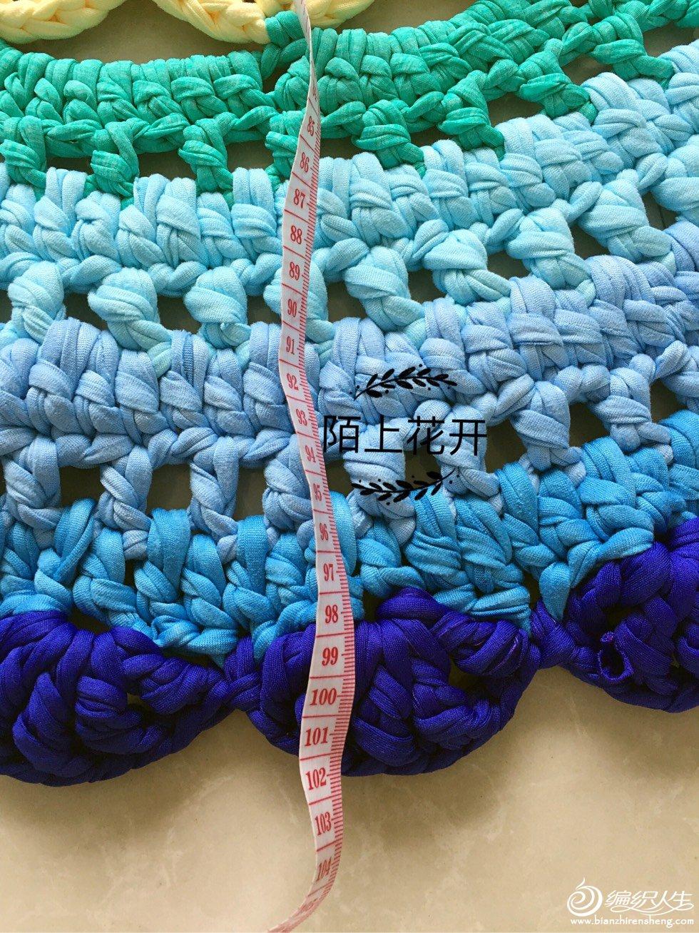 炫丽布条线钩针彩虹地垫-编织教程-编织人生