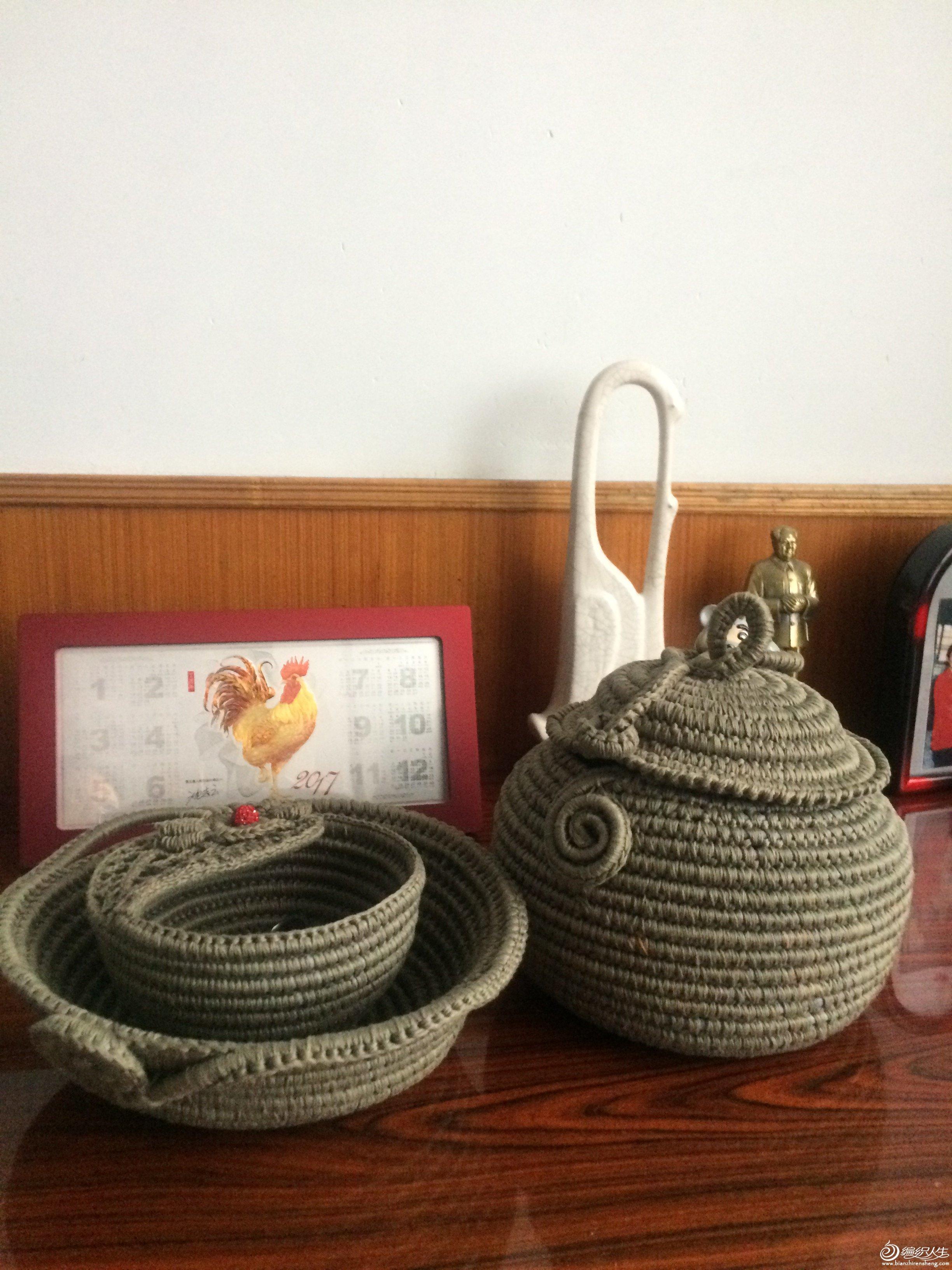 旧物改造毛线碗