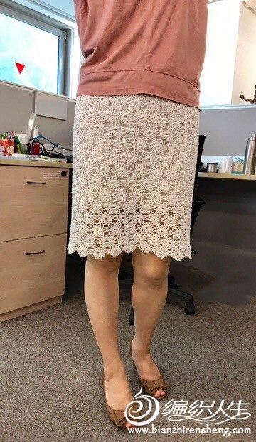 钩针拼花裙