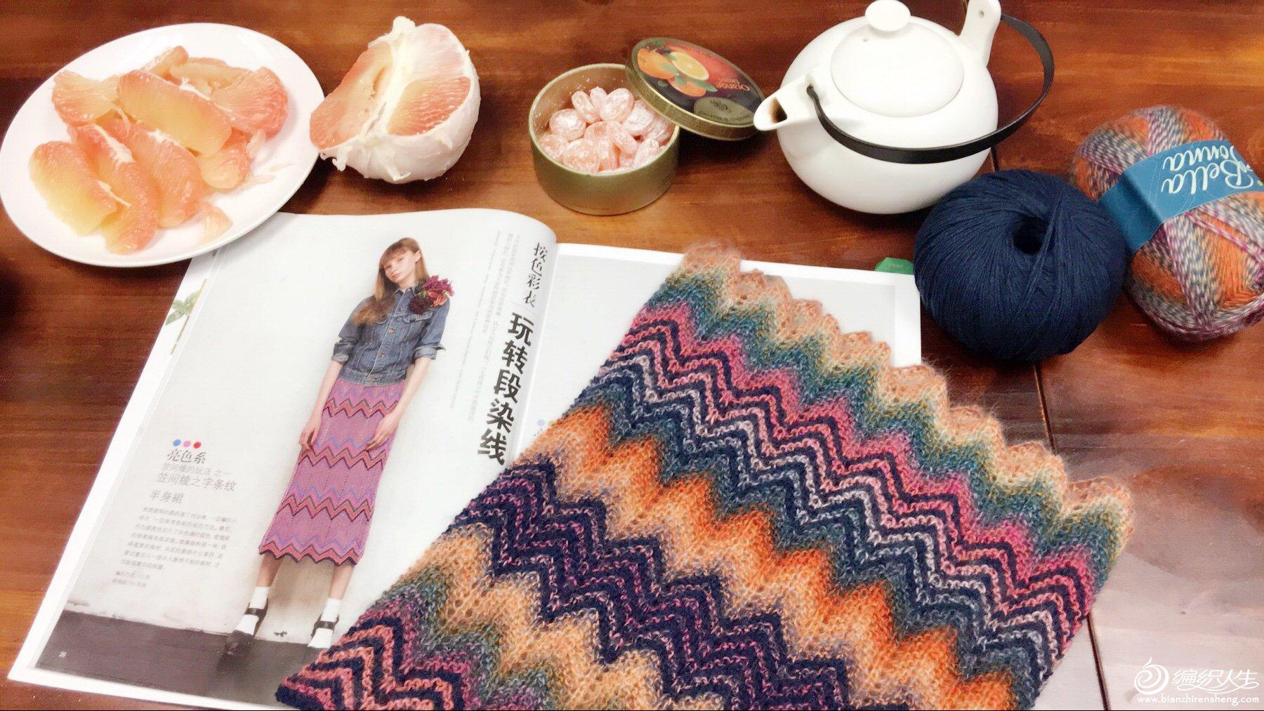 棒针编织波纹花样