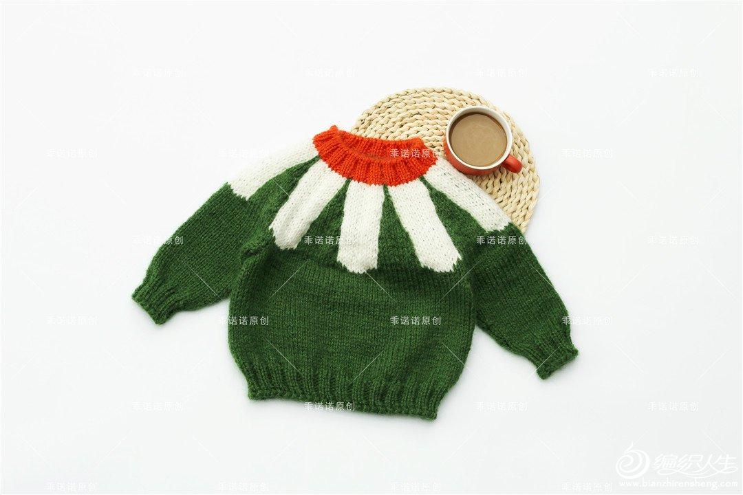 从领口往下织宝宝毛衣