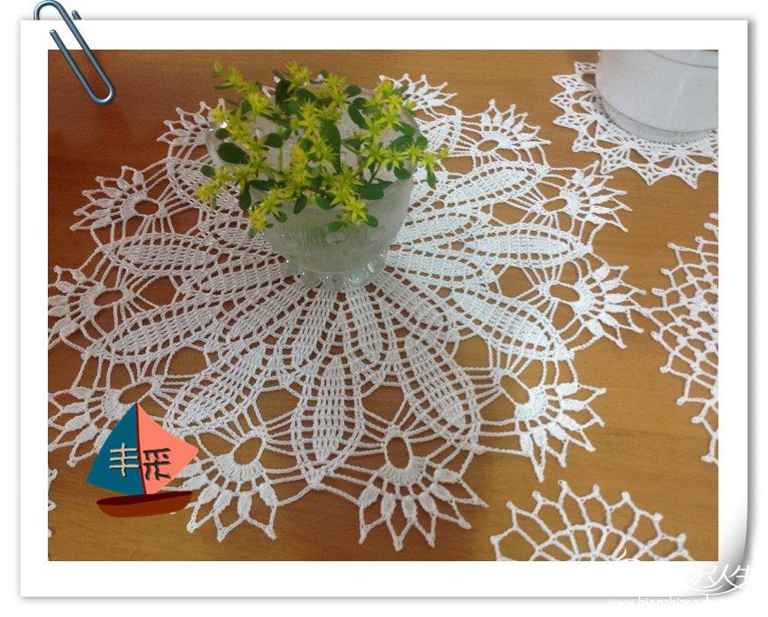 蕾丝编织杯垫