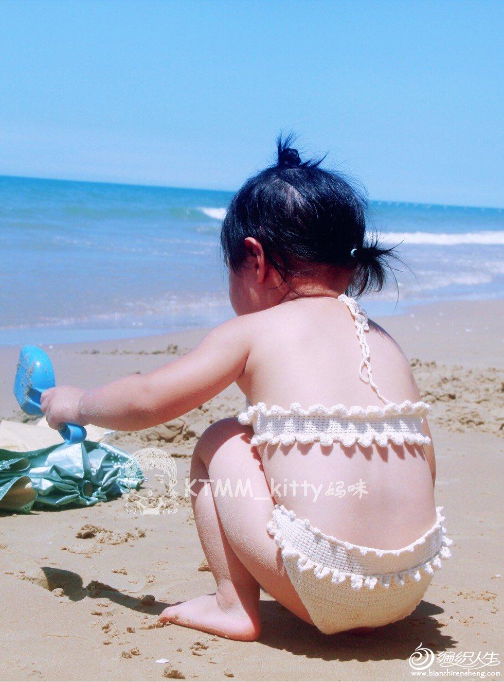 宝宝钩针泳装
