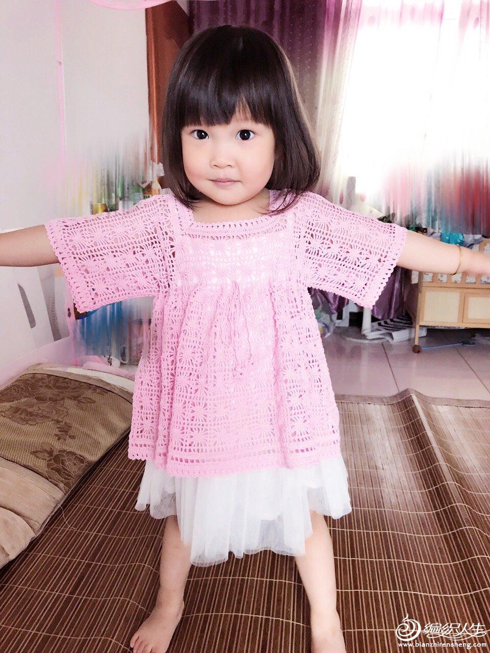 宝宝钩针娃娃衫